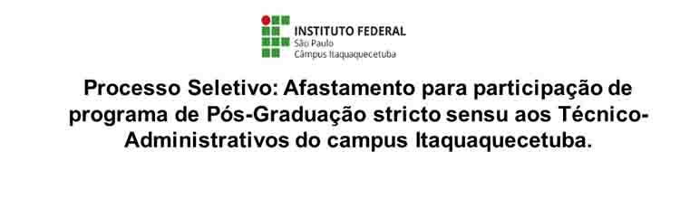 Afastamento Pós-Graduação Técnico-Administrativos