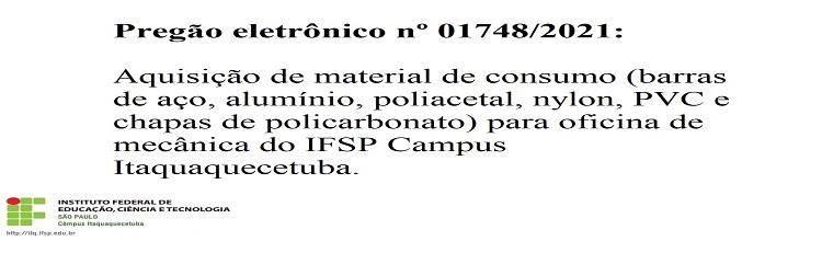 Pregão eletrônico nº 01748/2021