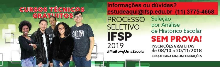 Processo Seletivo IFSP 2019