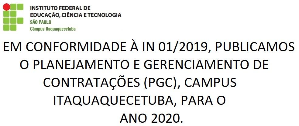 Planejamento e Gerenciamento de Contratações (PGC) 2020