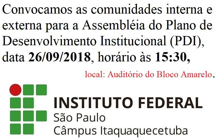 Plano de Desenvolvimento Institucional (PDI), 2018