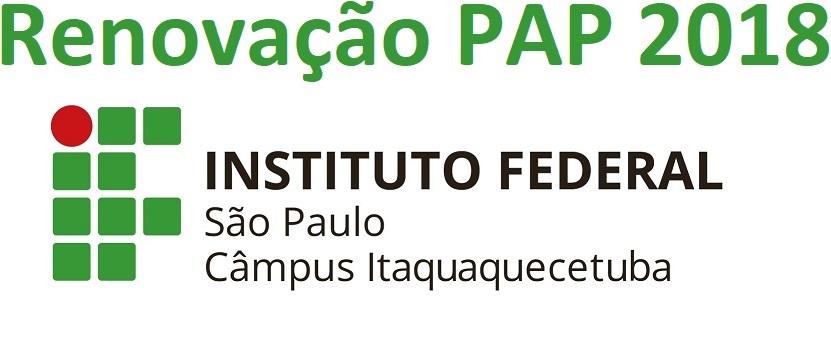 Recadastramento do PAP - 2º sem. 2018