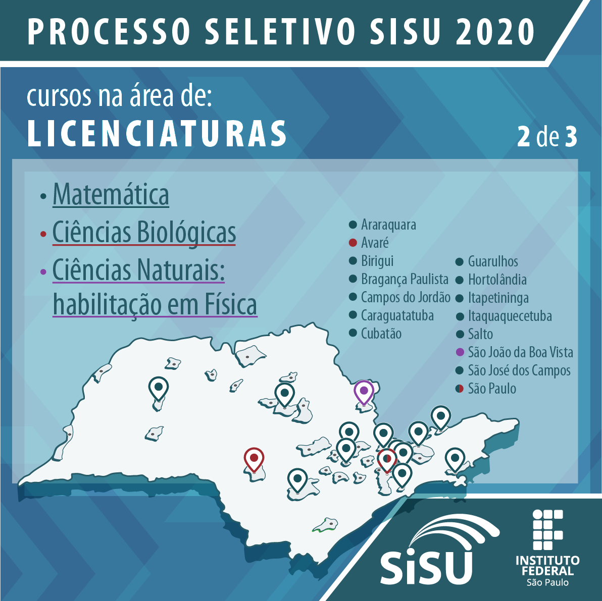 Processo seletivo SISU 2020